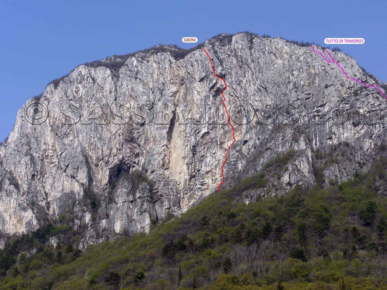 Monte san martino parete rossa via tutto di traverso for Immagini da colorare di san martino